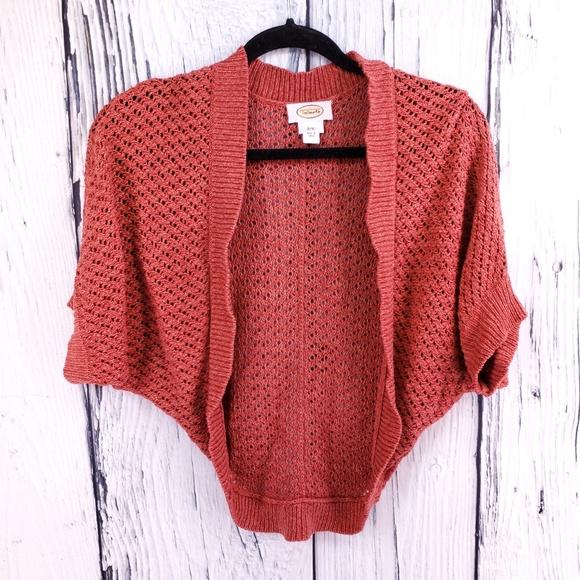 d5df13327f7 Talbots Crocheted Short Shrug Style Sweater S/M